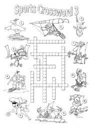 English Worksheet: Sports Crossword 3