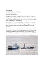 English Worksheet: Hudson River Plane Crash: Article