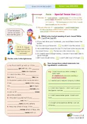 English Worksheet: IF Clauses (3rd of the SET)  -  Special Tense Use (2/2)  -  If  + Past perfect  + would have... or other modals