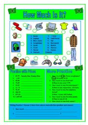 English Worksheets: How Much Is It?  Part 1