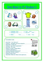 English Worksheets: How Much Is It?  Part 2