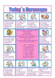 English Worksheet: Today`s Horoscope: Will for Predictions and other modals