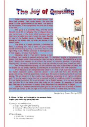 English Worksheets: The joy of queueing
