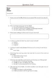English Worksheets: Questions to the movie: Goal!