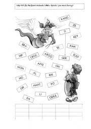 English Worksheets: Forest Animals