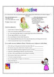 English Worksheets: Subjunctive