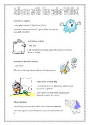 Idioms with the word White