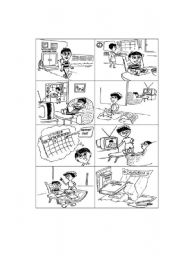 English Worksheet: Story telling