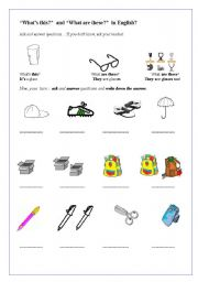 English Worksheets: What�s this what are these?