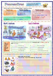 English Worksheets: Describing a room: Possessives