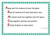 Peace acrostic