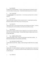 English Worksheets: TOEFL Speaking Prompts