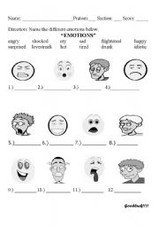 English worksheets: emotions worksheets, page 45