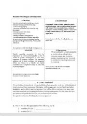 English Worksheets: job adds and letter of application