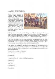 English Worksheet: Amish Education