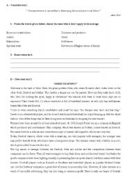 English Worksheet: Test about consumerism - 11th grade