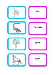 English Worksheets: Animal cards (set 3/4)