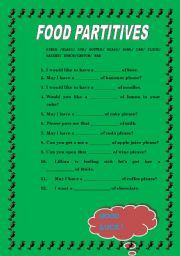 English Worksheets: food partitives
