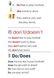 English worksheet: Present Simple for little children