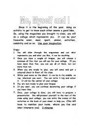 English Worksheets: Me, Myself and I