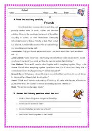 English Worksheets: FRIENDS