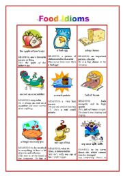 Worksheets Worksheet Idioms Food idioms food idioms