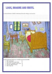 English Worksheets: Steffy...Look, imagine and write