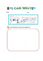 English Worksheets: Writing via Pictures