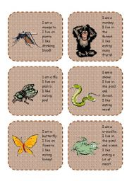 English Worksheets: Animal cards activity