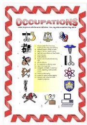 English Worksheets: Occupations (1/3)