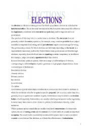 English Worksheets: Elections