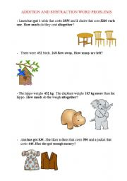 english worksheets addition and subtraction word problems. Black Bedroom Furniture Sets. Home Design Ideas
