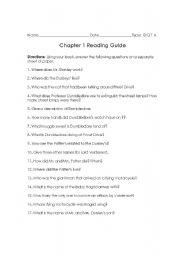 English teaching worksheets: Harry Potter