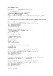 English teaching worksheets: Avril Lavigne Avril Lavigne Lyrics