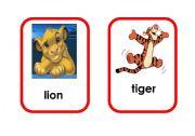 English Worksheets: Cartoon animal flashcards (1/5)