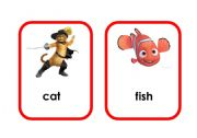 English Worksheets: Cartoon animal flashcards (4/5)