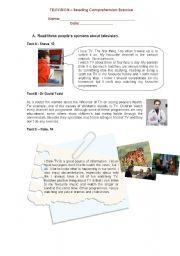 English Worksheets: Television worksheet