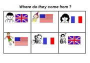 English Worksheets: Where do they come from?