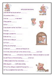 worksheets > Pronouns > Reflexive pronouns > REFLEXIVE PRONOUNS ...