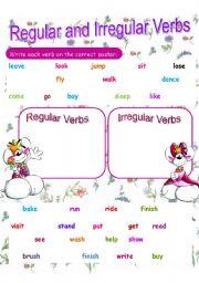 Regular and Irregular Verbs Review