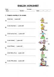 English Worksheet: Age 3rd person singular Worksheet
