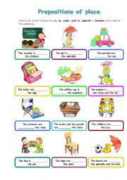 Prepositions Of Place Worksheet By Silvana - Next to preposition