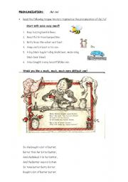 English Worksheets: PRONOUNCIATION /B/ /V/