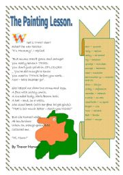 English Worksheets: The painting lesson