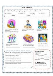 English Worksheets: HOW OFTEN?