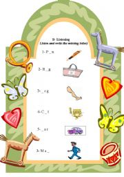 English Worksheets: fill in the missing letter