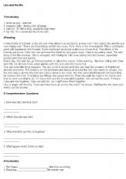 English Worksheets: Ubu and the fire