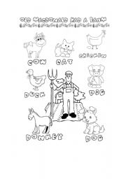 English teaching worksheets old macdonald had a farm for Old macdonald coloring pages