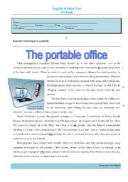 test - the portable office