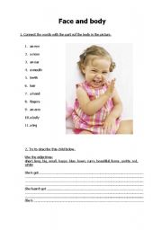 English Worksheets: Face nad body